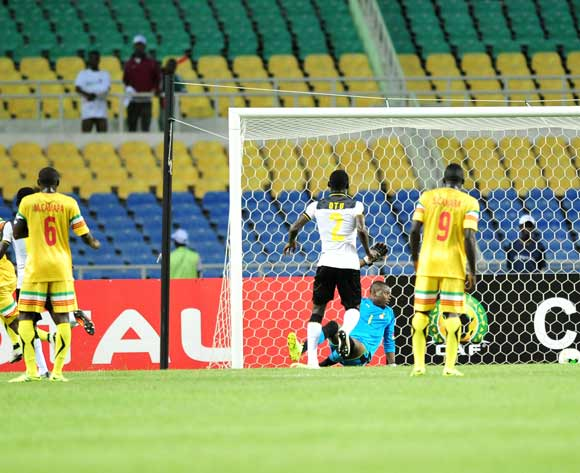 Mamadou Samake of Mali score a goal during the 2017 Under 17 Africa Cup of Nations Finals match between Ghana and Mali at the Libreville Stadium in Gabon on 28 May 2017 ©Samuel Shivambu/BackpagePix