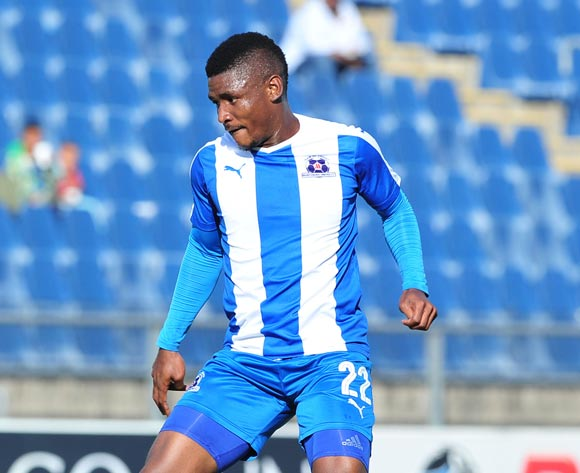 Mohau Mokate of Maritzburg United during the Absa Premiership 2016/17 match between Maritzburg United and Cape Town City at the Harry Gwala Stadium, South Africa on 01 May 2017 ©Samuel Shivambu/BackpagePix