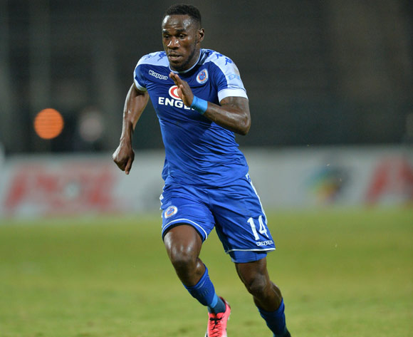 Onismor Bhasera of Supersport United during the Absa Premiership 2016/17 match between Supersport United and Cape Town City at the Lucas Moripe Stadium, South Africa on 09 May 2017 ©Samuel Shivambu/BackpagePix
