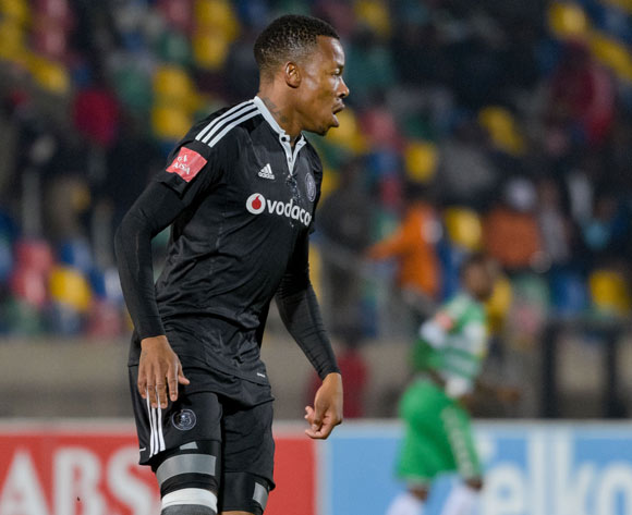 Happy Jele of Orlando Pirates during the Absa Premiership match between Bloemfontein Celtic and Orlando Pirates on 10 May 2017 at Dr Molemela Stadium, Bloemfontein ©Frikkie Kapp /BackpagePix