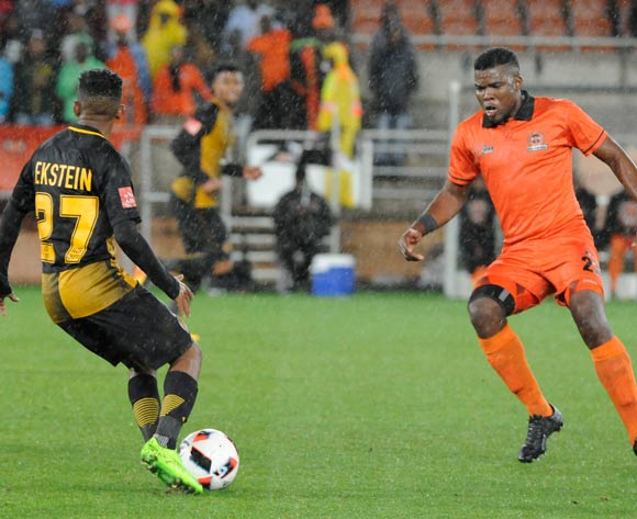 Hendrick Ekstein of Kaizer Chiefs and Tshepo Tema of Polokwane City during the Absa Premiership 2016/17 game between Polokwane City and Kaizer Chiefs at Peter Mokaba Stadium in Polokwane on 13 May 2017 ©/BackpagePix