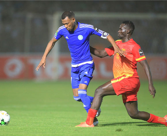 Mudather El Tahir of Hilal  (l) during the 2017 CAF Champions League football match between Hilal and Merreikh in Omdurman on 13 May 2017 ©Tayeb Afarah/BackpagePix
