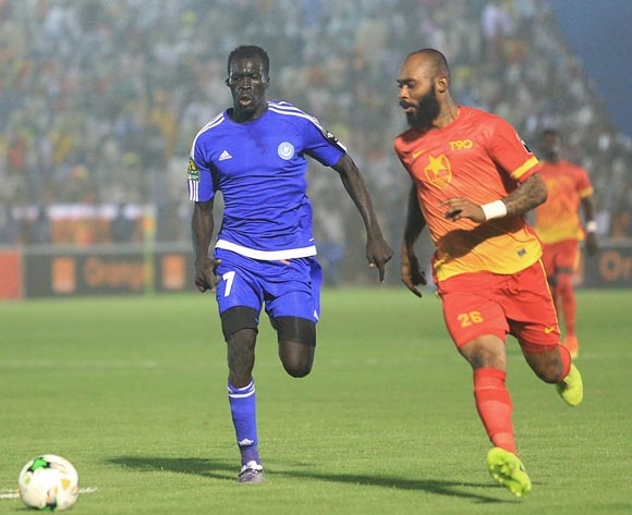 Shaiboub of Hilal (l) and Wawa Baskal of Merreikh (r) during the 2017 CAF Champions League football match between Hilal and Merreikh in Omdurman on 13 May 2017 ©Tayeb Afarah/BackpagePix