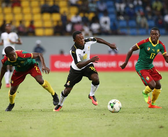 EMMANUEL TOKU of Ghana during the 2017 Under 17 Africa Cup of Nations Finals football match between Cameroon and Ghana at the Port Gentil Stadium, Gabon on 14 May 2017 ©Alain Guy Suffo/BackpagePix