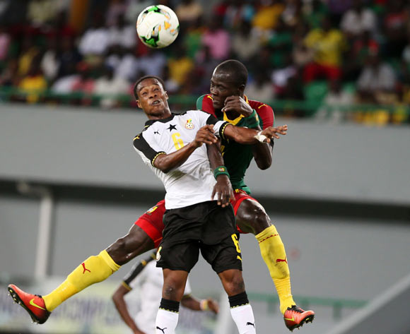 ERIC AYIAH of Ghana during the 2017 Under 17 Africa Cup of Nations Finals football match between Cameroon and Ghana at the Port Gentil Stadium, Gabon on 14 May 2017 ©Alain Guy Suffo/BackpagePix