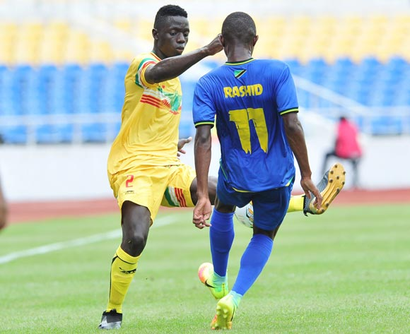 Ibrahim Abdalla Ali of Tanzania challenged by Felix Kamate of Mali during the 2017 Under 17 Africa Cup of Nations Finals football match between Mali and Tanzania at the Libreville Stadium in Gabon on 15 May 2017 ©Samuel Shivambu/BackpagePix
