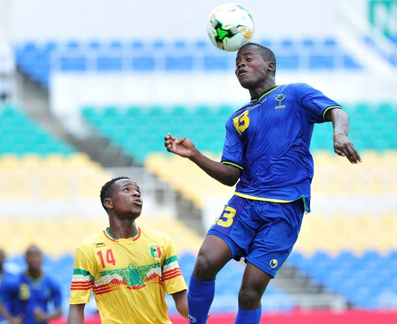 Shabani Zuberi Ada of Tanzania challenged by Sibiry Diako of Mali during the 2017 Under 17 Africa Cup of Nations Finals football match between Mali and Tanzania at the Libreville Stadium in Gabon on 15 May 2017 ©Samuel Shivambu/BackpagePix