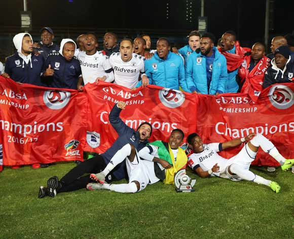 Bidvest Wits win the 2016/17 Absa Premiership title during football match between Bidvest Wits and Polokwane City at Bidvest Stadium, Johannesburg on 17 May 2017 ©Gavin Barker/BackpagePix