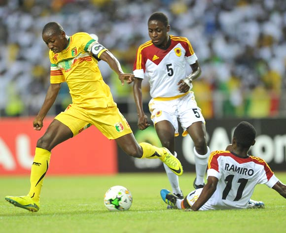 Mohamed Camara of Mali challenged by Ramiro Joao Paulo of Angola during the 2017 Under 17 Africa Cup of Nations Finals football match between Mali and Angola at the Libreville Stadium in Gabon on 21 May 2017 ©Samuel Shivambu/BackpagePix