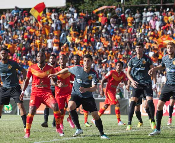 Players of Tunisian football club Esperance Tunis and Ethiopian football club Saint George vie for the ball during the CAF Champions League match in Addis Ababa, Ethiopia, 23 May 2017.