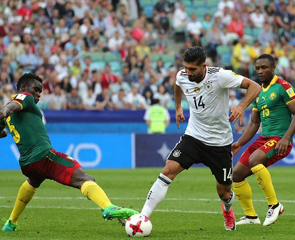 epa06049953 Emre Can (C) of Germany in action during the FIFA Confederations Cup 2017 group B soccer match between Germany and Cameroon at the Fisht Stadium in Sochi, Russia, 25 June 2017.  EPA/ARMANDO BABANI