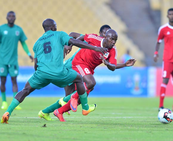 Levison Maganizo of Mauritius during the Cosafa Castle Cup match between Malawi and Mauritius at the Royal Bafokeng Stadium in Rustenburg on 27 June 2017 ©Samuel Shivambu/BackpagePix
