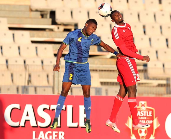 Louis Marco Dorza of Mauritius challenged by Gadiel Michael Kamagi of Tanzania during the 2017 Cosafa Castle Cup match between Tanzania and Mauritius at the Moruleng Stadium, Rustenburg South Africa on 29 June 2017 ©Muzi Ntombela/BackpagePix