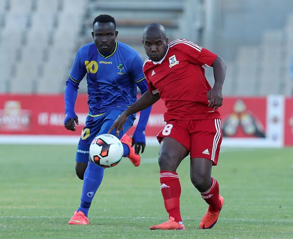 Jean Adel Langue of Mauritius challenged by Elias Maguri of Tanzania during the 2017 Cosafa Castle Cup match between Tanzania and Mauritius at the Moruleng Stadium, Rustenburg South Africa on 29 June 2017 ©Muzi Ntombela/BackpagePix