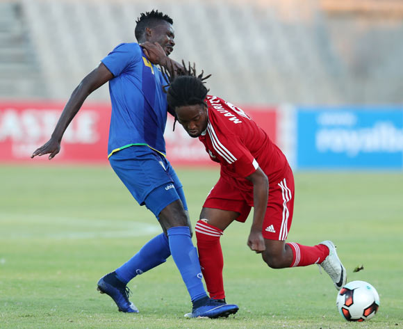 Laval Jesson Rungassamy of Mauritius challenged by Erasto Edward Nyoni of Tanzania during the 2017 Cosafa Castle Cup match between Tanzania and Mauritius at the Moruleng Stadium, Rustenburg South Africa on 29 June 2017 ©Muzi Ntombela/BackpagePix