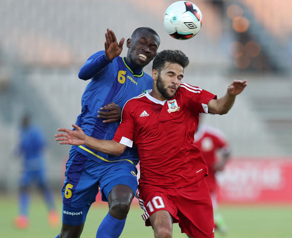 Salim Hassan Mbonde of Tanzania challenges Jeremy Robert Villeneuve of Mauritius during the 2017 Cosafa Castle Cup match between Tanzania and Mauritius at the Moruleng Stadium, Rustenburg South Africa on 29 June 2017 ©Muzi Ntombela/BackpagePix