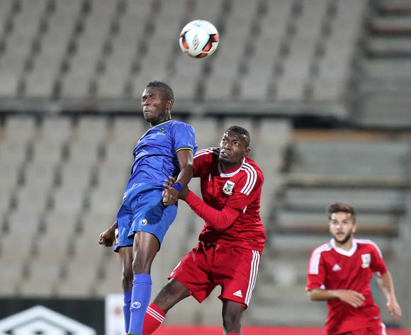 Gadiel Michael Kamagi of Tanzania challenged by Louis Marco Dorza of  Mauritius during the 2017 Cosafa Castle Cup match between Tanzania and Mauritius at the Moruleng Stadium, Rustenburg South Africa on 29 June 2017 ©Muzi Ntombela/BackpagePix