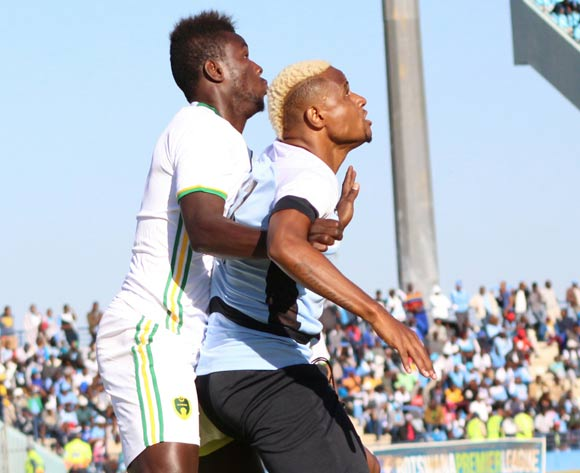 Omaatla Kebatho of Botswana and Camara Camara of Mauritania during the game between Botswana and Mauritania on 10 June 2017 at Francistown Stadium,Botswana ©/BackpagePix