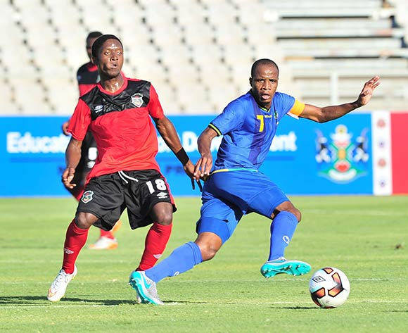 Himid Mkami of Tanzania challenged by Simeon Singa of Malawi during the Cosafa Castle Cup match between Tanzania and Malawi at the Moruleng Stadium in Rustenburg on 25 June 2017 ©Samuel Shivambu/BackpagePix