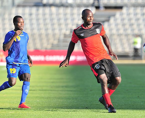 Chikoti Chirwa of Malawi challenged by Mzamiru Said of Tanzania during the Cosafa Castle Cup match between Tanzania and Malawi at the Moruleng Stadium in Rustenburg on 25 June 2017 ©Samuel Shivambu/BackpagePix