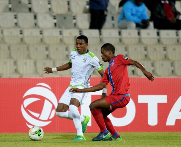 Katlego Khunuo of Platinum Stars during the CAF Confederation Cup match between Platinum Stars and Mbabane Swallows on the 08 July 2017 at Moruleng Stadium  © Sydney Mahlangu /BackpagePix