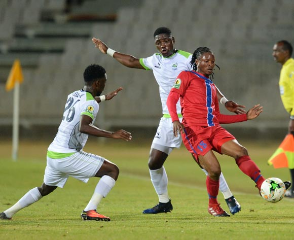 Papy Tshishimbi of Mbabane Swallows during the CAF Confederation Cup match between Platinum Stars and Mbabane Swallows on the 08 July 2017 at Moruleng Stadium  © Sydney Mahlangu /BackpagePix