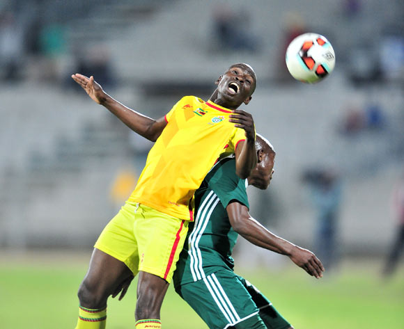 Ocean Mashure of Zimbabwe challenged by Liberty Chakoroma of Lesotho during 2017 Cosafa Castle Cup match between Lesotho and Zimbabwe at Moruleng Stadium in Rustenburg on 05 July 2017 ©Samuel Shivambu/BackpagePix