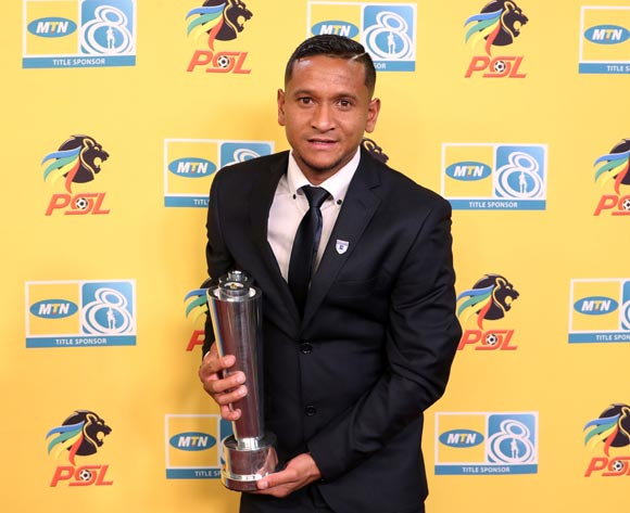 MTN 8 Last Man Standing, Daine Klate of Bidvest Wits during the 2016/17 PSL Awards at the Sandton Convention Centre, Johannesburg South Africa on 10 July 2017 ©Muzi Ntombela/BackpagePix
