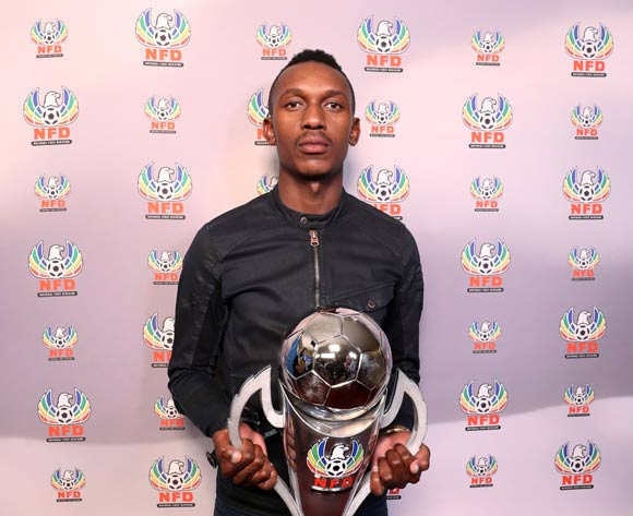Boikanyo Komane of Thanda Royal Zulu during the 2016/17 PSL Awards at the Sandton Convention Centre, Johannesburg South Africa on 10 July 2017 ©Muzi Ntombela/BackpagePix