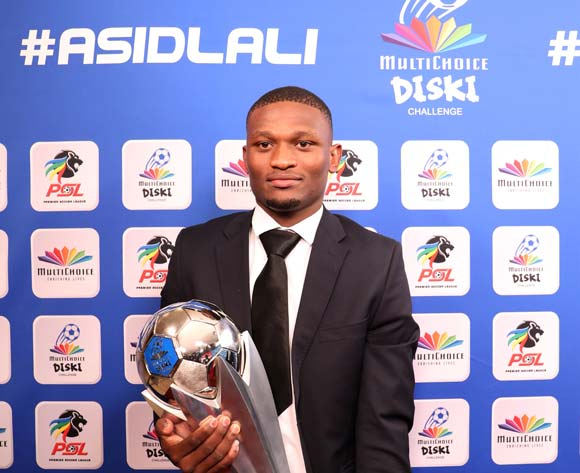 Motjeka Madisha of Mamelodi Sundowns during the 2016/17 PSL Awards at the Sandton Convention Centre, Johannesburg South Africa on 10 July 2017 ©Muzi Ntombela/BackpagePix