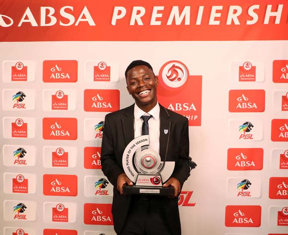 Absa Premiership Young Player of the Season, Phakamani Mahlambi of Bidvest Wits during the 2016/17 PSL Awards at the Sandton Convention Centre, Johannesburg South Africa on 10 July 2017 ©Muzi Ntombela/BackpagePix