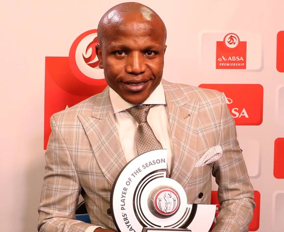 Absa Premiership Player's Player of the Season, Lebogang Manyama of Cape Town City FC during the 2016/17 PSL Awards at the Sandton Convention Centre, Johannesburg South Africa on 10 July 2017 ©Muzi Ntombela/BackpagePix