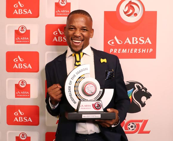 Absa Premiership Midfielder of the Season, Aubrey Ngoma of Cape Town City FC during the 2016/17 PSL Awards at the Sandton Convention Centre, Johannesburg South Africa on 10 July 2017 ©Muzi Ntombela/BackpagePix