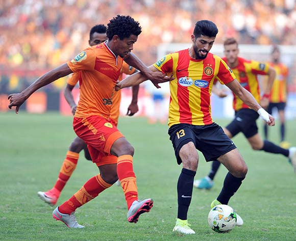Esperance Sportive de Tunis player Sassi Ferjani (R) fights for the ball with Saint George S.C. player Natnael Zeleke (L) during the 2017 CAF Champions League game between Esperance and Saint George Tunis, Tunisia on 9 July 2017 © BackpagePix