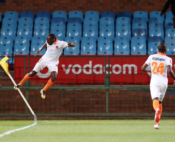 Rodney Ramagalela of Polokwane City celebrates goal during Absa Premiership 2017/18 match between Mamelodi Sundowns and Polokwane City at Loftus Versveld Stadium, Pretoria South Africa on 22 August 2017 ©Muzi Ntombela/BackpagePix