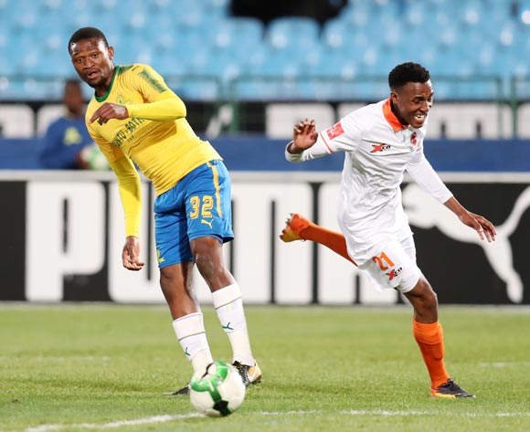 Sammy Seabi of Polokwane City challenged by Motjeka Madisha of Mamelodi Sundowns during Absa Premiership 2017/18 match between Mamelodi Sundowns and Polokwane City at Loftus Versveld Stadium, Pretoria South Africa on 22 August 2017 ©Muzi Ntombela/BackpagePix