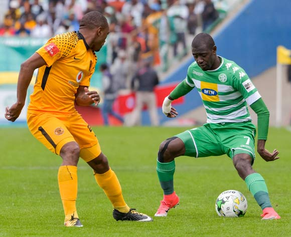 Deon Hotto of Bloemfontein Celtic and Bernard Parker of Kaizer Chiefs during the Absa Premiership 2017/18 game between Bloemfontein Celtic and Kaizer Chiefs at Free State Stadium on 20 August 2017 © Frikkie Kapp/BackpagePix