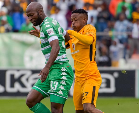 Jacky Motshegwa of Bloemfontein Celtic and Hendrick Ekstein of Kaizer Chiefs during the Absa Premiership 2017/18 game between Bloemfontein Celtic and Kaizer Chiefs at Free State Stadium on 20 August 2017 © Frikkie Kapp/BackpagePix