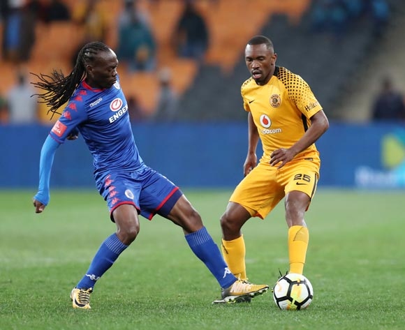 Bernard Parker of Kaizer Chiefs challenged by Reneilwe Letsholonyane of Supersport United during Absa Premiership 2017/18 match between Kaizer Chiefs and Supersport United at FNB Stadium, Johannesburg South Africa on 23 August 2017 ©Muzi Ntombela/BackpagePix