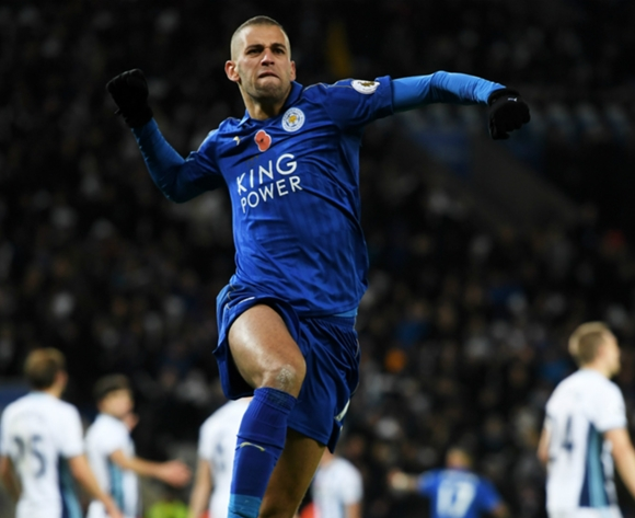 Islam Slimani brace sees Leicester crush Sheffield in League Cup