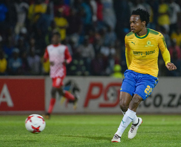 Percy Tau of Mamelodi Sundowns during the Absa Premiership 2017/18 game between Free State Stars and Mamelodi Sundowns at Goble Park, Bethlehem on 11 September 2017 © Frikkie Kapp/BackpagePix