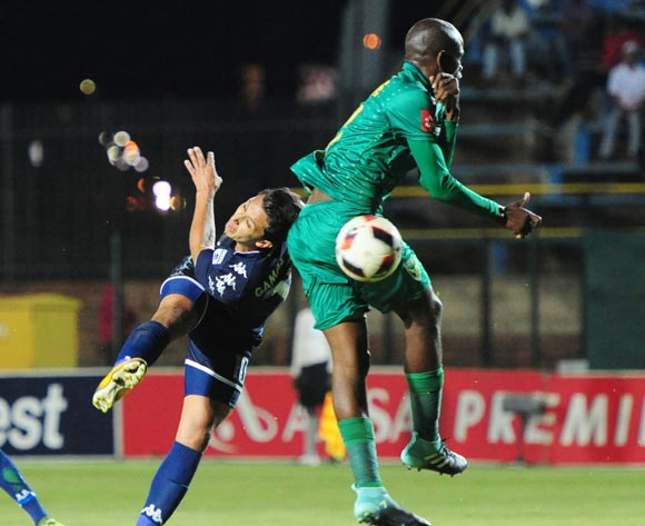 Ahmed Gamal Amr of Bidvest Wits challenged by Limbikani Mzava of Golden Arrows during 2017/18 Absa Premiership game between Bidvest Wits and Golden Arrows at Bidvest Wits Stadium on 13 September 2017@Aubrey Kgakatsi/BackpagePix
