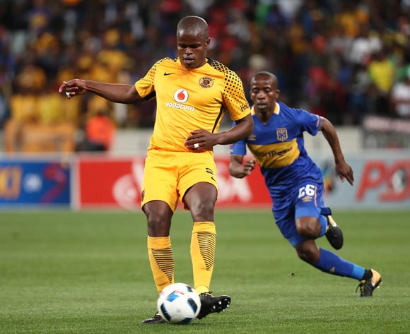 Willard Katsande of Kaizer Chiefs evades challenge from Thabo Nodada of Cape Town City during the Absa Premiership 2017/18 football match between Cape Town City FC and Kaizer Chiefs at Cape Town Stadium, Cape Town on 13 September 2017 ©Chris Ricco/BackpagePix