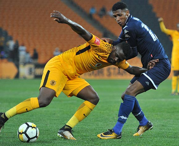 Vincent Pule of Bidvest Wits challenges Kgotso Moleko of Kaizer Chiefs during 2017/18 Absa Premiership game between Kaizer Chiefs and Bidvest Wits at FNB Stadium on 16 September 2017@Aubrey Kgakatsi/BackpagePix