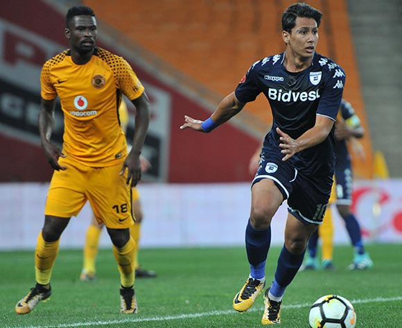 Ahmed  Amr Gamal of Bidvest Wits challenged by Kgotso Moleko of Kaizer Chiefs during 2017/18 Absa Premiership game between Kaizer Chiefs and Bidvest Wits at FNB Stadium on 16 September 2017@Aubrey Kgakatsi/BackpagePix