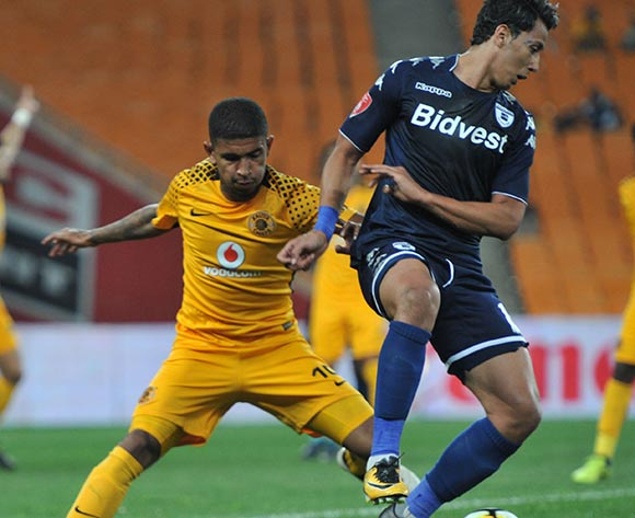 Ahmed  Amr Gamal of Bidvest Wits challenged by Keagan Buchanan of Kaizer Chiefs during 2017/18 Absa Premiership game between Kaizer Chiefs and Bidvest Wits at FNB Stadium on 16 September 2017@Aubrey Kgakatsi/BackpagePix