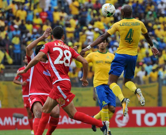 Tebogo Langerman of Mamelodi Sundowns during 2017 Caf Champions League game between Mamelodi Sundowns and Wydad AC at Lucas Moripe Stadium on 17 September 2017@Aubrey Kgakatsi/BackpagePix
