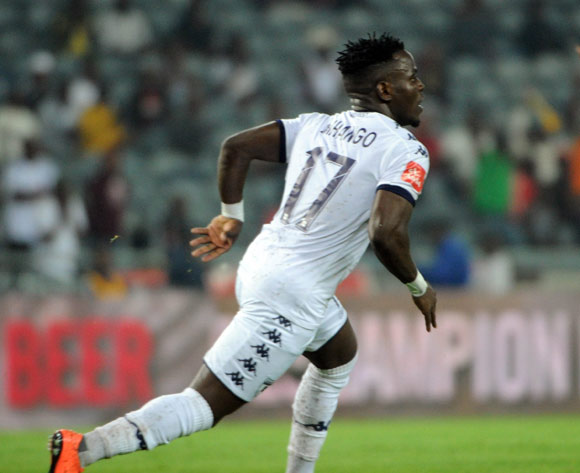 South African Absa Premiership champions striker, Gabadinho Mhango issues apology for spitting incident