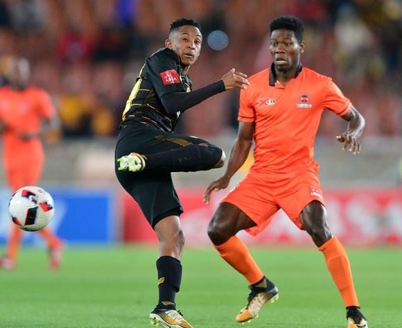 Hendrick Ekstein of Kaizer Chiefs challenged by Salulani Phiri of Polokwane City during the Absa Premiership 2017/18 football match between Polokwane City and Kaizer Chiefs at Peter Mokaba Stadium, Polokwane on 31 October 2017 ©Samuel Shivambu/BackpagePix