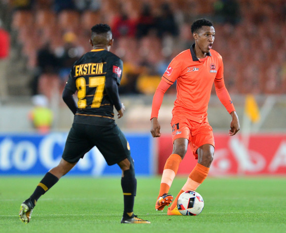 Sammy Seabi of Polokwane City challenged by Hendrick Ekstein of Kaizer Chiefs during the Absa Premiership 2017/18 football match between Polokwane City and Kaizer Chiefs at Peter Mokaba Stadium, Polokwane on 31 October 2017 ©Samuel Shivambu/BackpagePix